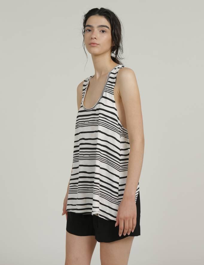 Alef Alef | אלף אלף - בגדי מעצבים | גופית ZOE פסים שחור לבן