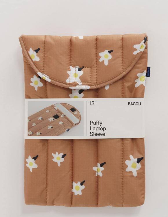 Alef Alef | אלף אלף - בגדי מעצבים | כיסוי ללפטופ 13 // Baggu הדפס פרחים