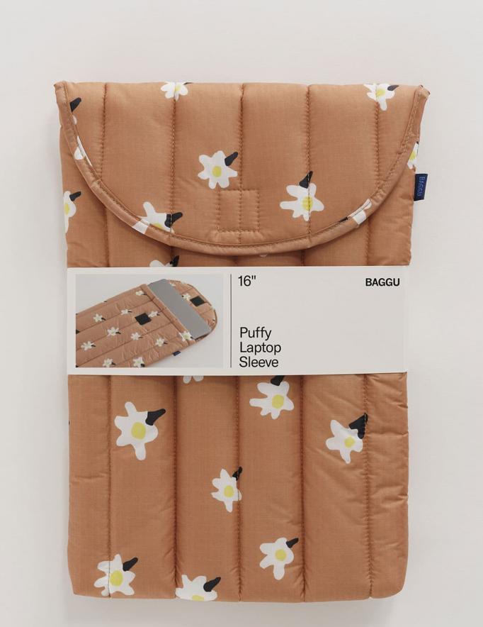 Alef Alef | אלף אלף - בגדי מעצבים | כיסוי ללפטופ 16 // Baggu הדפס פרחים