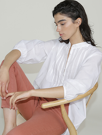 אלף אלף - בגדי מעצבים | מכנסי Dayan שחור לבן/ זיגזג - Alef Alef | אלף אלף