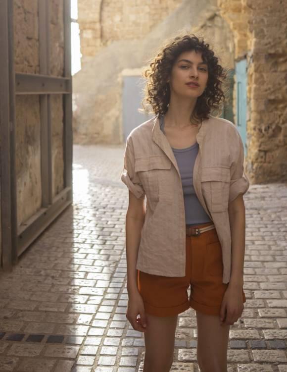 Alef Alef   אלף אלף - בגדי מעצבים   חולצת NERO אופייט