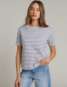 Alef Alef | אלף אלף - בגדי מעצבים | חולצת MEDES פסים כחול לבן