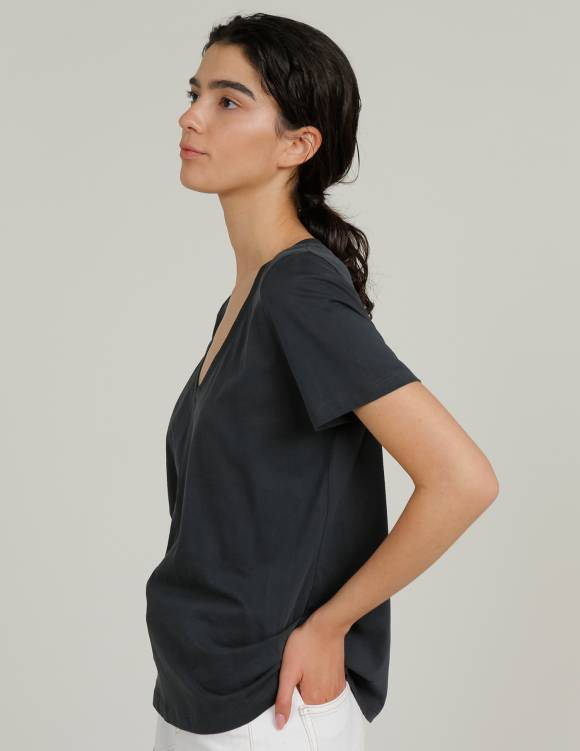 Alef Alef   אלף אלף - בגדי מעצבים   חולצת MERAKI פחם