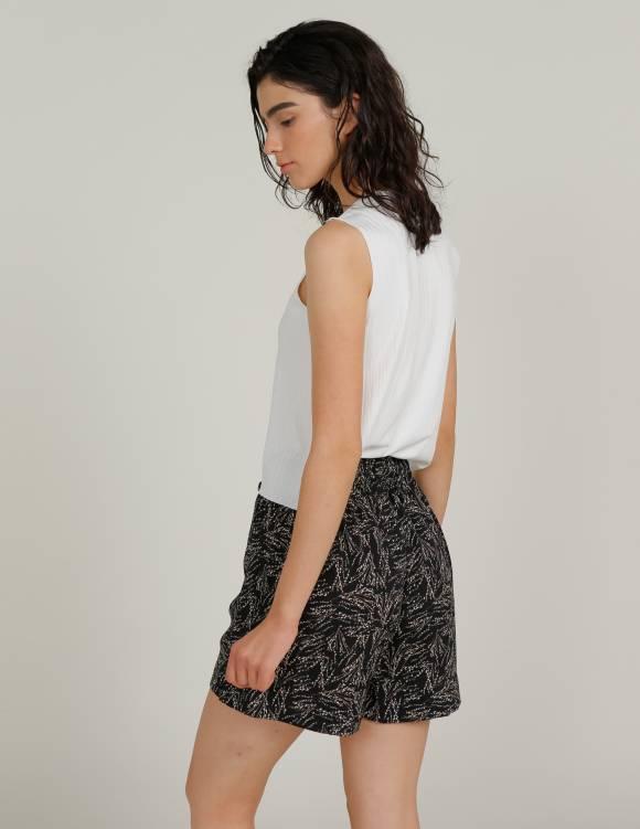 Alef Alef   אלף אלף - בגדי מעצבים   מכנס GORDON שחור דפוס