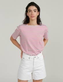 Alef Alef | אלף אלף - בגדי מעצבים | חולצת MEDES פסים אדום לבן