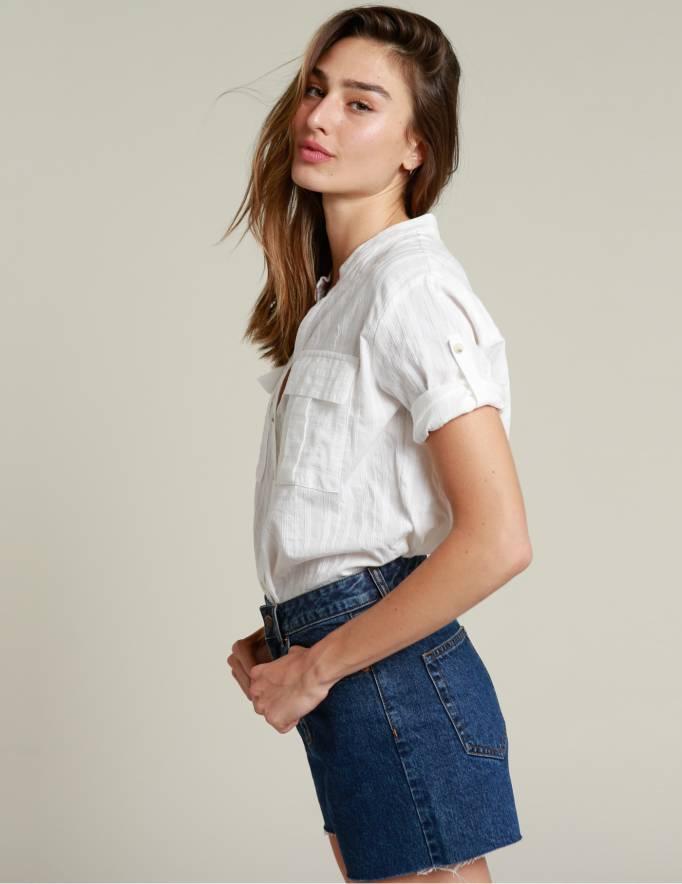 Alef Alef | אלף אלף - בגדי מעצבים | חולצת NERO לבן