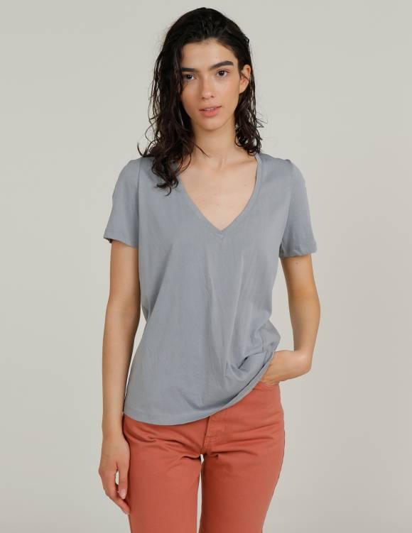 Alef Alef   אלף אלף - בגדי מעצבים   חולצת MERAKI תכלת