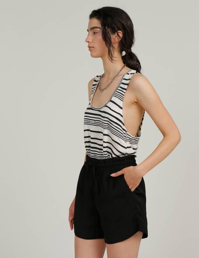 Alef Alef   אלף אלף - בגדי מעצבים   מכנס GORDON שחור