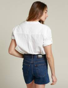 Alef Alef   אלף אלף - בגדי מעצבים   חולצת NERO לבן