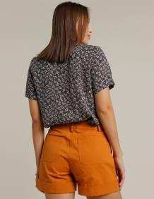 Alef Alef | אלף אלף - בגדי מעצבים | מכנסי CAPRI חמרה