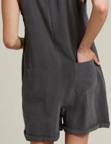 Alef Alef   אלף אלף - בגדי מעצבים   אוברול BYRON פחם