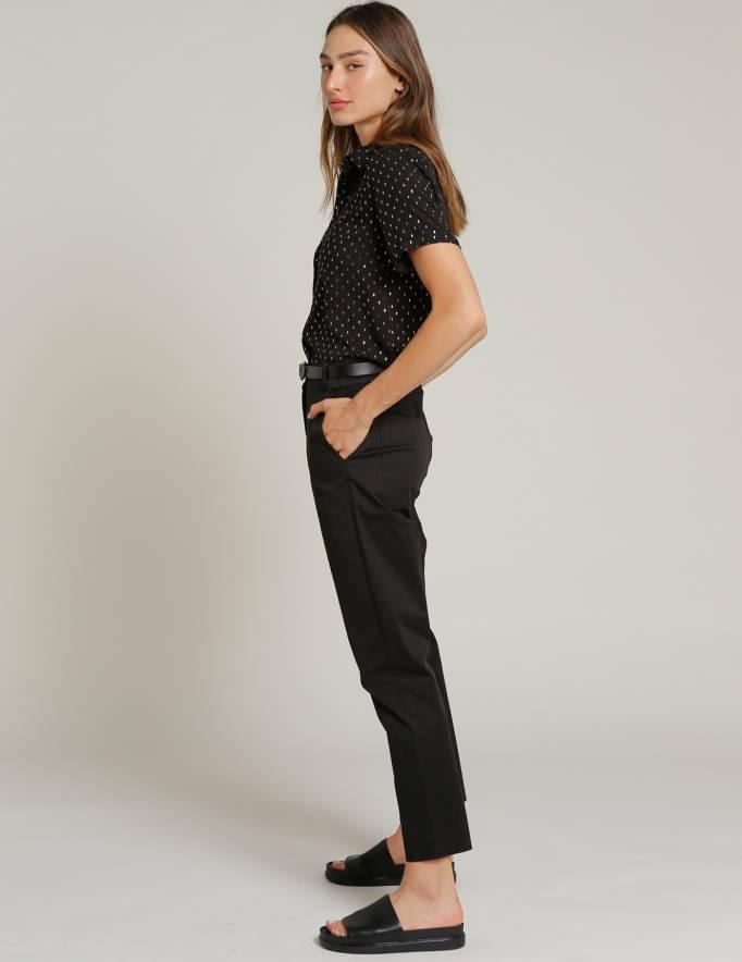 Alef Alef | אלף אלף - בגדי מעצבים | מכנסי STEFANO שחור