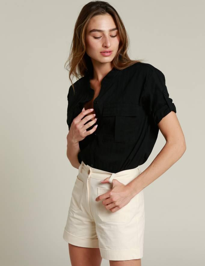 Alef Alef | אלף אלף - בגדי מעצבים | מכנסי CAPRI שמנת