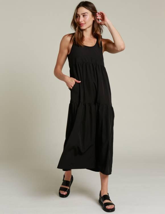 Alef Alef   אלף אלף - בגדי מעצבים   שמלת NIA שחור