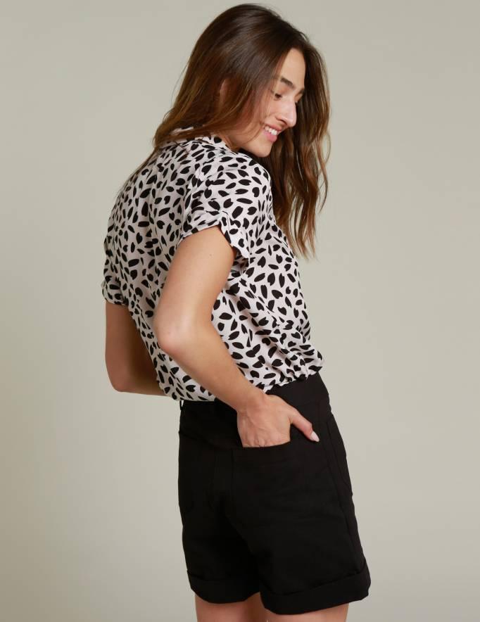Alef Alef | אלף אלף - בגדי מעצבים | מכנסי CAPRI שחור