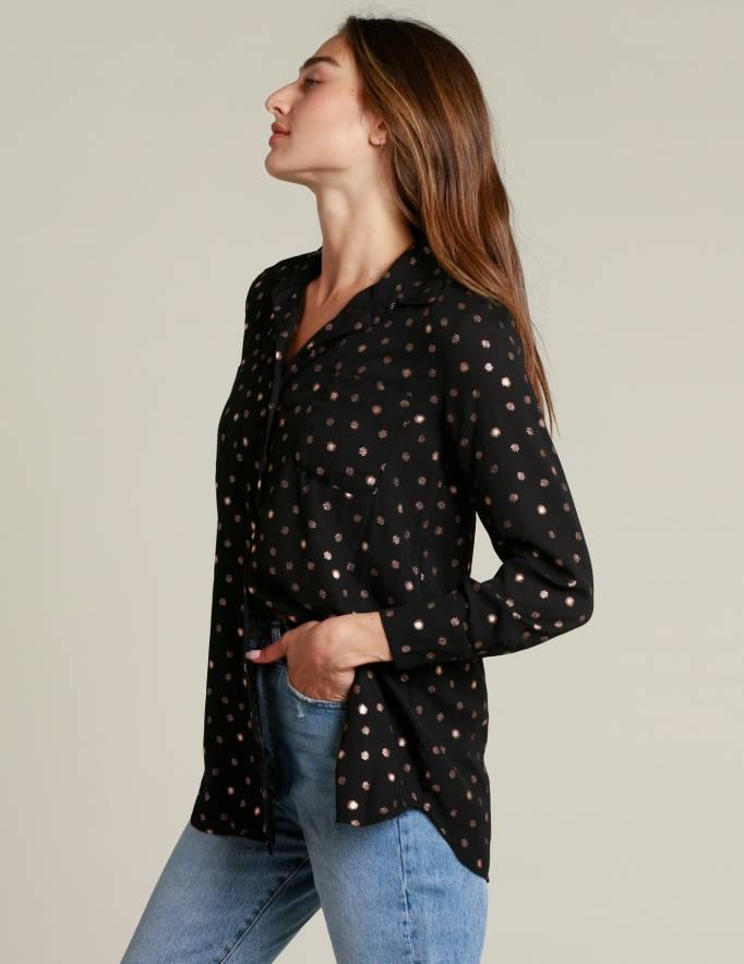 Alef Alef | אלף אלף - בגדי מעצבים | חולצת Alex שחור ברונזה
