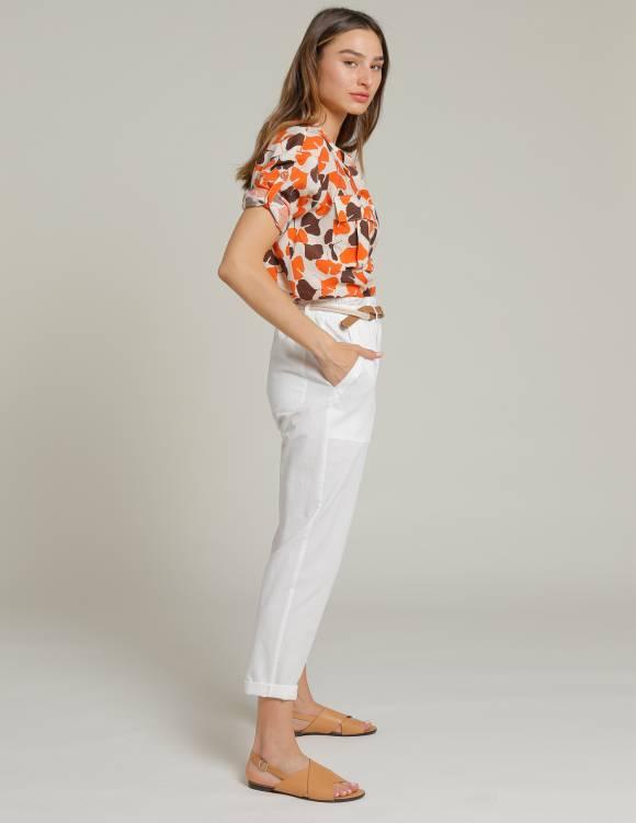 Alef Alef | אלף אלף - בגדי מעצבים | מכנסי LINDOS שמנת
