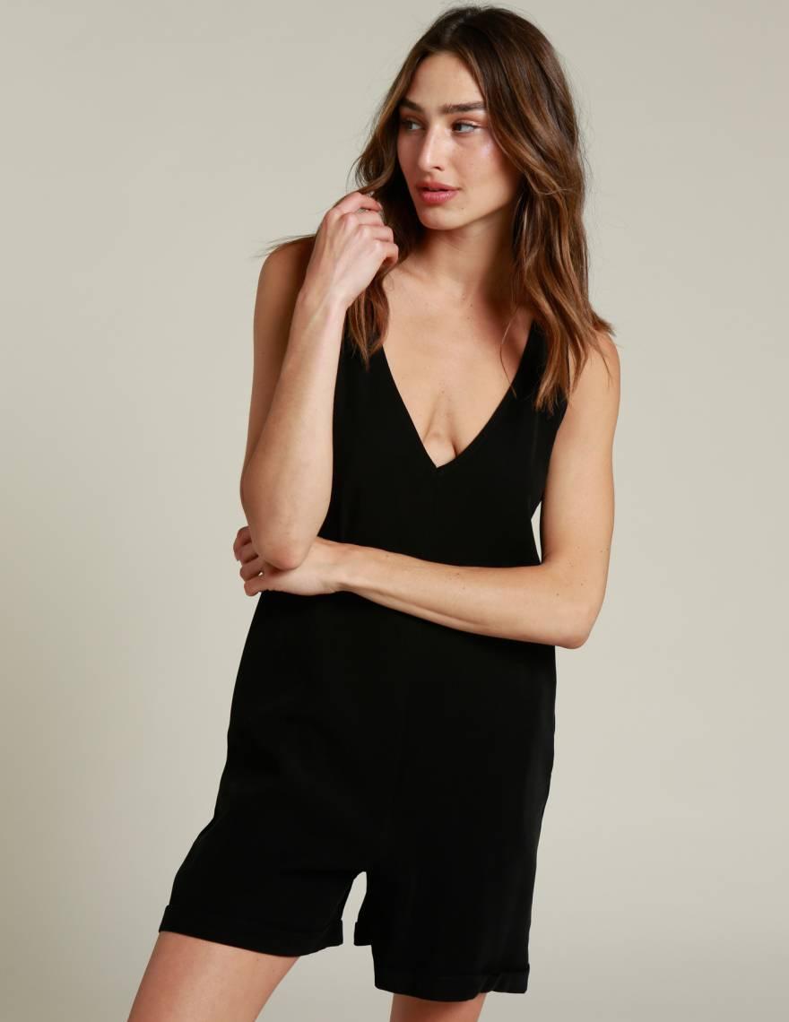 Alef Alef   אלף אלף - בגדי מעצבים   אוברול BYRON שחור