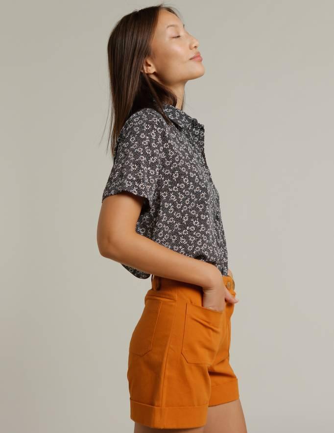 Alef Alef | אלף אלף - בגדי מעצבים | חולצת SINAI הדפס פרחים