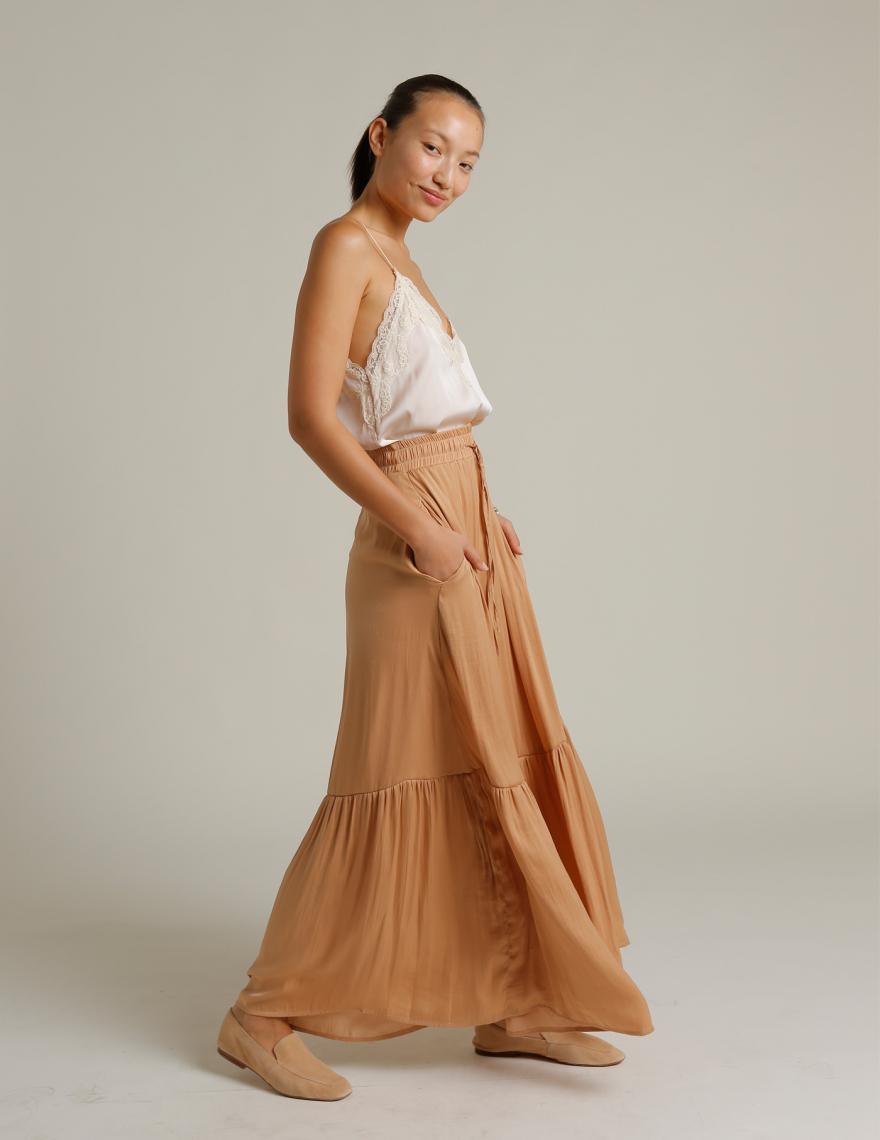 Alef Alef | אלף אלף - בגדי מעצבים | חצאית מקסי VIOLA ניוד