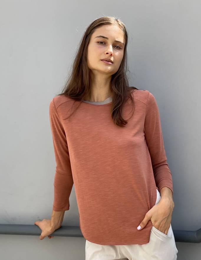 Alef Alef | אלף אלף - בגדי מעצבים | חולצת CAMILIA חמרה