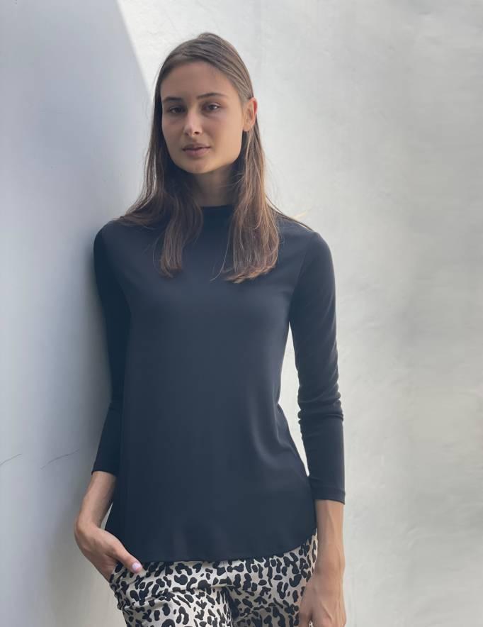 Alef Alef | אלף אלף - בגדי מעצבים | חולצת CALLA שחור