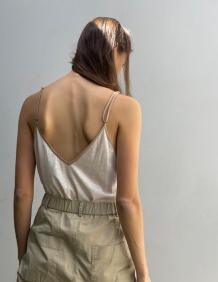 Alef Alef   אלף אלף - בגדי מעצבים   גופית CROWN שמנת