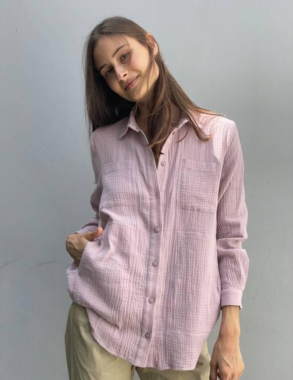 Alef Alef | אלף אלף - בגדי מעצבים | חולצת MANTE פודרה
