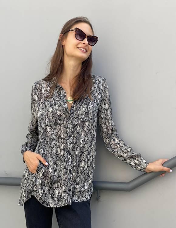 Alef Alef | אלף אלף - בגדי מעצבים | חולצת  FRIO נחש